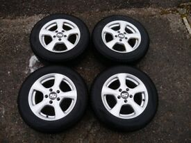 Winter Tyres on Alloy Wheels - 5 Stud Fixings