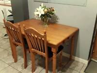 URGENT SALE. Solid Wood Table and Chairs