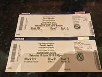 Demi lovato tickets 16 June Manchester