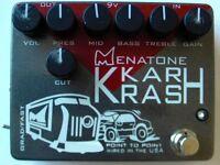 2005 MENATONE KAR KRASH 7-KNOB OVERDRIVE PEDAL