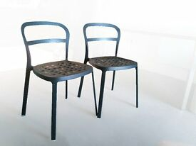 Two metal Chairs, ideal for outdoor balcony or terrace, as well as indoor