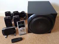 Logitech Z5500 THX DTS Dolby Digital Home Theatre Speaker System - 500 Watt Surround, 5.1, Subwoofer