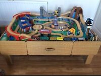 ToysRus mountain rock Wooden train set/table..