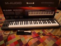 m-audio keystation 61 midi keyboard. Plus sustain pedal. Excellent condition and packaged.