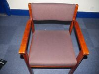 Four fabric office chairs for sale