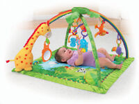 FISHER PRICE Rain Forest, play mat, toys + music Very good condition