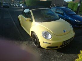 Yellow Convertible VW Beetle