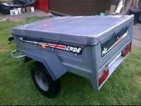 Erde 142 Galvanised trailer with cover