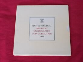 1986 BUNC Royal Mint coin set- Excellent condition. Postage FREE to UK mainland addresses.