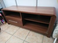 Walnut living room furniture with chrome handles