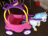 Little tikes horse & carriage
