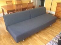 MUJI 3 Seater T2 Sofa Bed. Double Sofabed. Charcoal Grey, Very Modern & Chic Futon + I CAN DELIVER