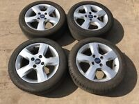"Ford Fiesta original freedom zetec 15"" alloy wheels - good tyres"