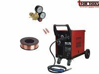 Sealey Mightymig170 170A Mig Welder & MB14 Euro Torch, Twin Gauged Gas Regulator