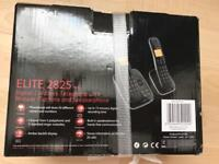 Eurotel elite 2825 twin cordless telephone with answer machine and speaker phone new