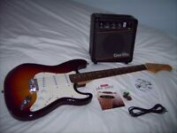 Strat style Guitar with Amp and Tuition DVD