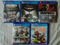 5 PS4 GAMES FOR £50(NO POSTING)