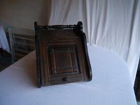 Antique wooden coal scuttle