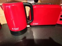 Kettle and toaster set plus other red items