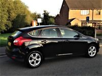 Ford Focus Zetec 1.6, Only 56,000 miles, Full Service History, (2011-Reg) 5dr, Black, New Shape
