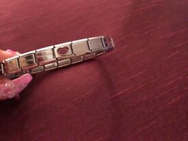 Silver Nomination Bracelet! Includes 2 charms