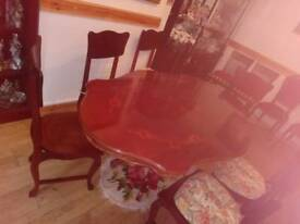 Big 4 leg Table + 6 Chairs