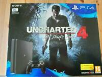 Ps4 slim black with uncharted 4
