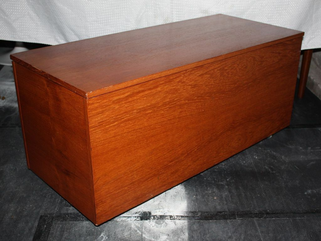 Large Vintage Retro Teak Trunk Chest Blanket Box Toy Box Coffee Table Storage Danish G Plan