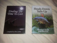 Carp books - Heads down tails up & Finding the time to cast