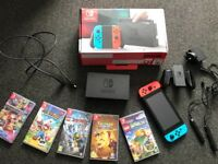 Nintendo Switch bundle 32GB 5 games included
