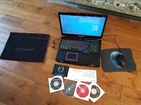 """ALIENWARE M17X WINDOWS 10 ,CORE I-7 - 2670QM 2.20GHZ, 8GB RAM, 500GB HDD, 17"""" 1600 X 900"""