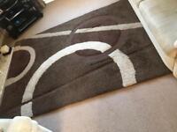 Brown/Beige Pattern Wool Rug