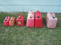 Various sizes fuel containers