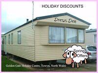 DREWS DEN: SPRING OFFERS: 3-bed static caravan: Golden Gate Holiday Centre, Towyn