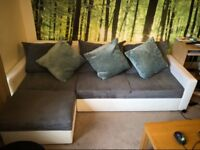 Right corner sofa double bed with storage