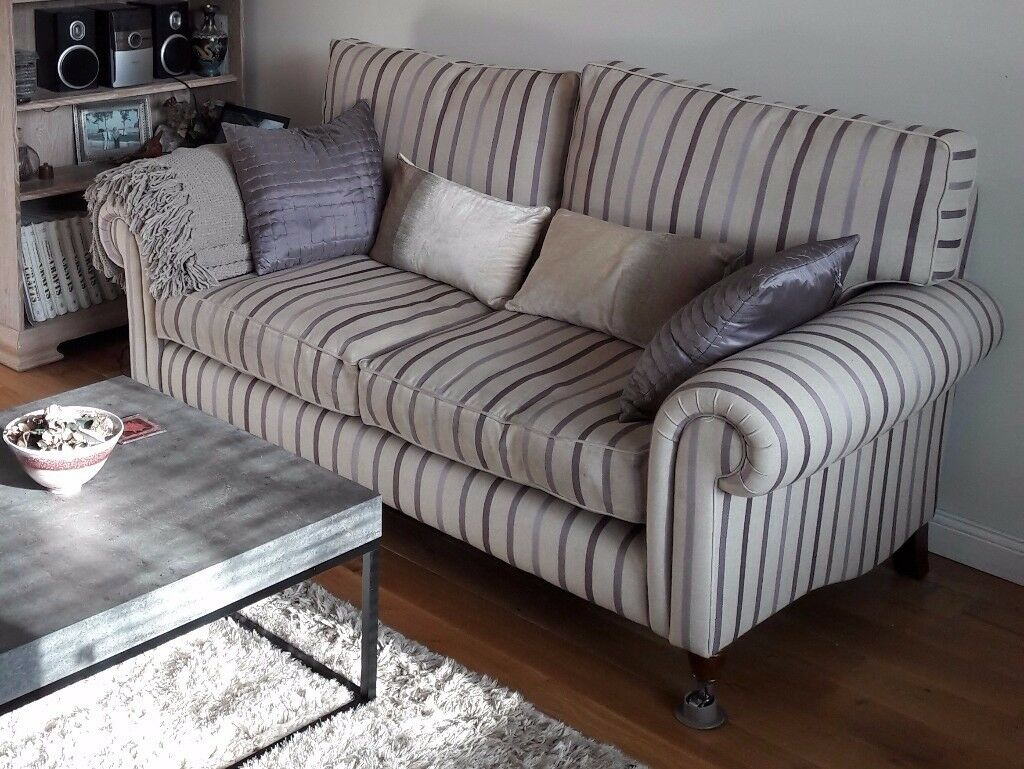 Laura Ashley Large Two Seater Kingston Striped Sofa