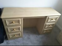 Dresser with matching bed side tables
