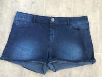 2 x pairs of size 12 denim shorts