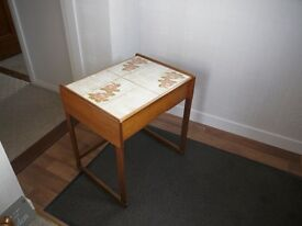 G Plan Retro Hallway Table with Tiled Top