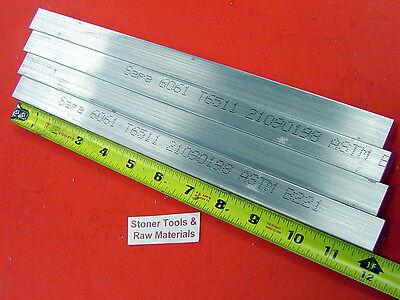 4 Pieces 34 X 34 Aluminum 6061 Square Flat Bar 12 Long T6511 New Mill Stock