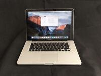 "15"" Apple MacBook Pro C2D 2.80GHz 4GB RAM 500GB HDD A1286 2009"