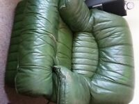 Green leather chair for sale