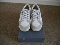 Mens Ashworth 'Cardiff' golf shoes white. Leather and suede. UK size 8.5