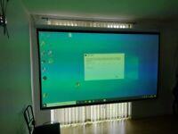 Projector Optoma HD39Darbee + screen 120 inch