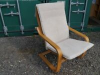 Ikea Poang chair and matching foot stool