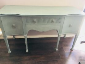 Beautiful Teal Upcycled console dresser