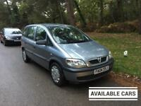 MID MONTH SALE 2004 Vauxhall Zafira 1,6 litre 5dr 7 seater 2 owners
