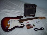 Legacy Strat with Amp and tuition DVD etc.