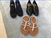 Various shoes, river island , white stuff , clarks. All as new . Sizes 6-7 £3-£9