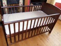 Obaby Cot/Bed with Mattress.